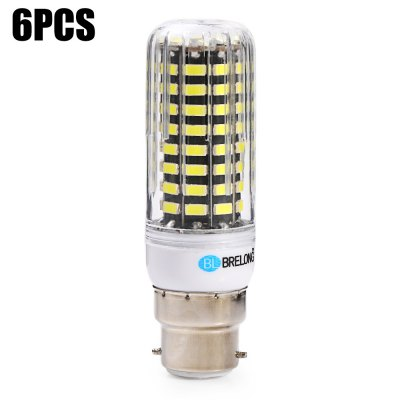 6pcs BRELONG B22 1500Lm 15W SMD5733 80 LED Corn Bulb