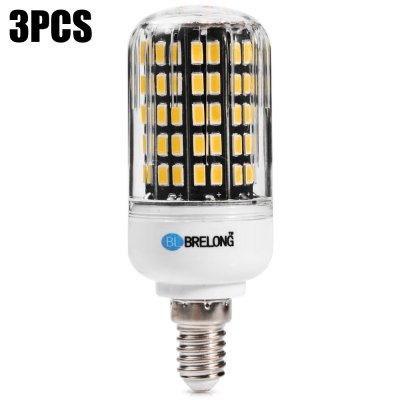 3 BRELONG 1800Lm 18W E14 108 x SMD5733 LED Corn Bulb