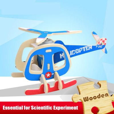 Solar Helicopter Fuzai P240 Jigsaw Puzzle Building Blocks Environmental DIY Toy