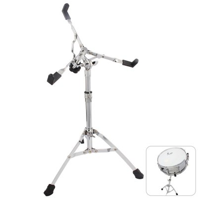 Metal Snare Drum Set Stand Silver Practice Pad Holder