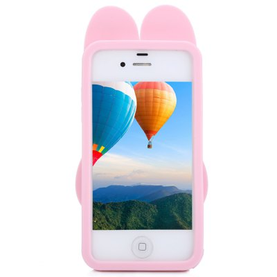 Silicone Soft Protective Back Cover Case for iPhone 4