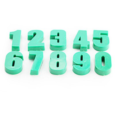 FUNI CT-991 10PCS Number Figure Magnetic Whiteboard Stickers for Education