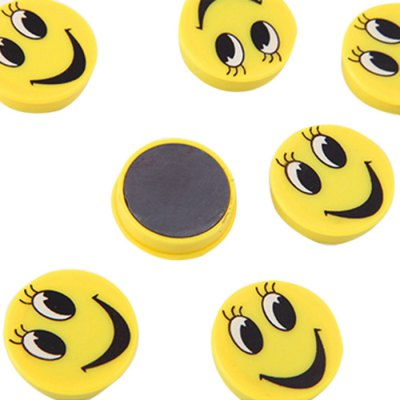 FUNI CT-6659 Office Smile Round Magnets Message Stickers Beans 10PCSFUNI CT-6659 Office Smile Round Magnets Message Stickers Beans 10PCS<br><br>Brand: FUNI<br>Type: Cartoon<br>Color: Yellow<br>Product weight: 0.052 kg<br>Package weight: 0.075 kg<br>Product size (L x W x H): 16.00 x 6.00 x 0.80 cm / 6.30 x 2.36 x 0.31 inches<br>Package size (L x W x H): 18.00 x 8.00 x 0.80 cm / 7.09 x 3.15 x 0.31 inches<br>Package Contents: 10 x FUNI CT-6659 Magnetic Whiteboard Sticker