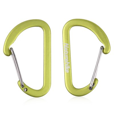 NatureHike 2pcs Small D Shape Carabiner