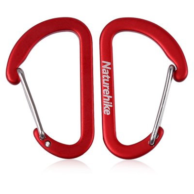 NatureHike 2pcs Small D Shape CarabinerCarabiner<br>NatureHike 2pcs Small D Shape Carabiner<br><br>Brand: NatureHike<br>Material: Aluminum Alloy<br>Best Use: Backpacking,Climbing,Hiking,Mountaineering<br>Tensile Load: 30kg<br>Product weight: 0.006 kg<br>Package weight: 0.034 kg<br>Product Dimension: 4.00 x 2.50 x 0.30 cm / 1.57 x 0.98 x 0.12 inches<br>Package Dimension: 13.00 x 6.50 x 0.90 cm / 5.12 x 2.56 x 0.35 inches<br>Package Contents: 2 x Carabiner