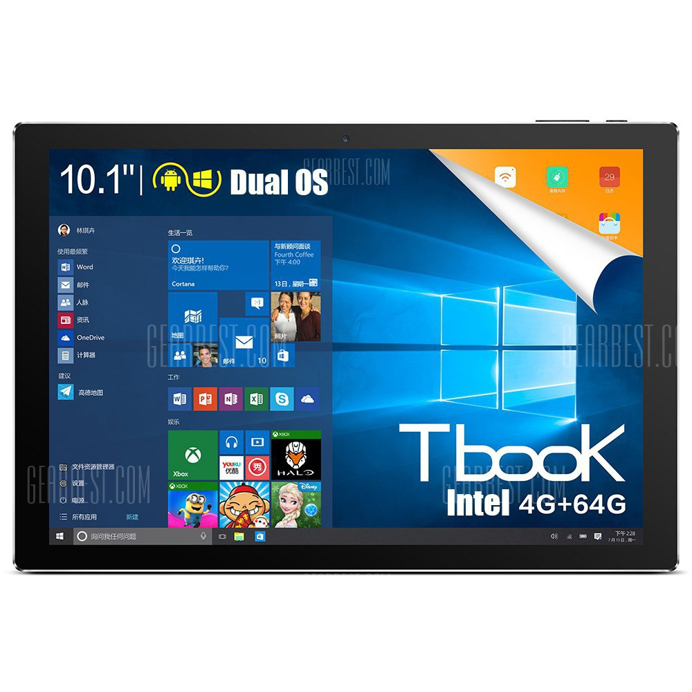 Teclast Tbook 10 2 1 Tablet PC CHAMPAGNE