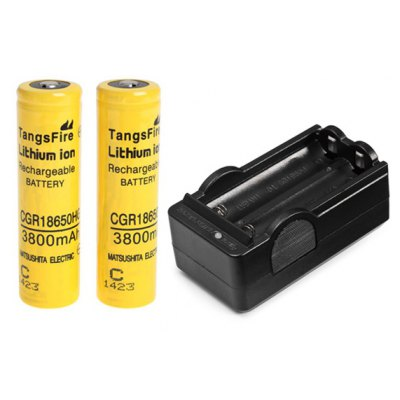 TangsFire 18650 Rechargeable Battery 3.7V 3800mAh Li - ion without Protection Board
