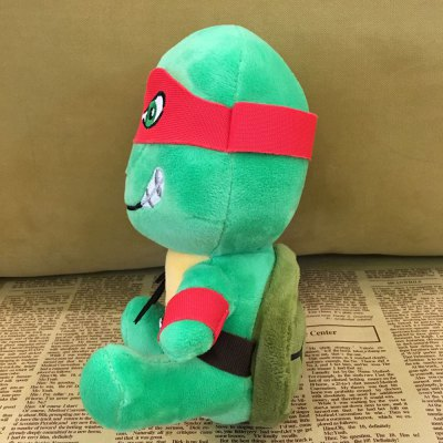 Turtle Design Cute Plush Toy with Suction Cup Stuffed Doll Children Present