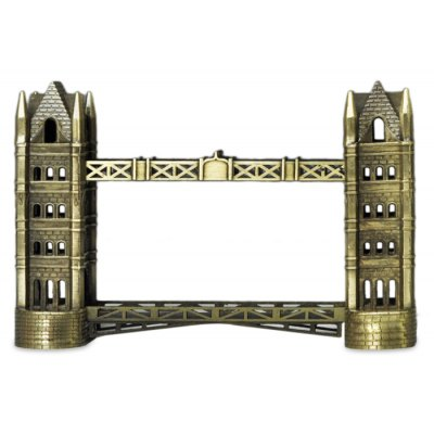 DECAKER London Tower Bridge World Famous Landmark Aluminum Alloy Architecture Home Office Decoration