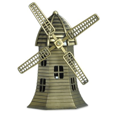 DECAKER Netherland Windmill Aluminum Alloy Building Model Toy