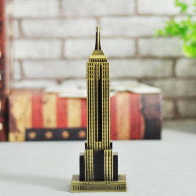 DECAKER Empire State Building World Famous Landmark Aluminum Alloy Architecture Home Office Decor