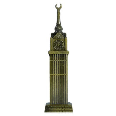 DECAKER Mecca Royal Clock Tower World Famous Landmark Aluminum Alloy Architecture Home Office Decor