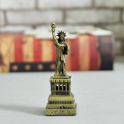DECAKER Statue of Liberty Aluminum Alloy Building Model Toy
