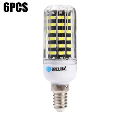 6PCS BRELONG 12W E14 1200LM 64 x SMD5733 LED Corn Light Lamp