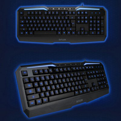 Delux K9025 Wired USB Gaming Keyboard
