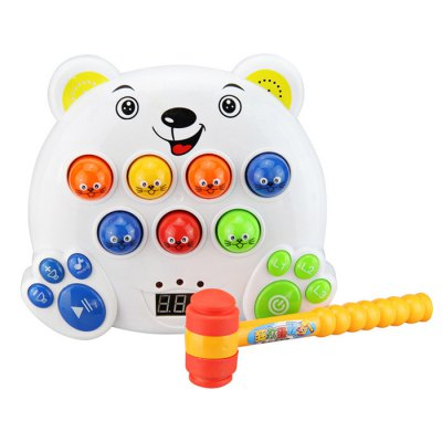 Electronic Music Playing Hamster Mole Game Machine for Children