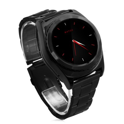 NO.1 S5 Heart Rate Monitoring Remote Camera Smart WatchSmart Watches<br>NO.1 S5 Heart Rate Monitoring Remote Camera Smart Watch<br><br>Brand: NO.1<br>Built-in chip type: MTK6261<br>Bluetooth version: Bluetooth 3.0<br>RAM: 64MB<br>ROM: 128MB<br>Health tracker: Heart rate monitor,Pedometer,Sedentary reminder,Sleep monitor<br>Remote control function: Remote Camera<br>Notification type: Facebook,Twitter,Wechat,WhatsApp<br>Alert type: Ring,Vibration<br>Locking screen : 4<br>Other Function: Alarm,Thermometer<br>Screen: IPS<br>Screen resolution: 240 x 240<br>Screen size: 1.2 inch<br>Operating mode: Press button,Touch Screen<br>Type of battery: Li-polymer Battery<br>Battery Capacty: 350mAh<br>Charging time: About 3hours<br>Standby time: 3 - 5 days<br>People: Female table,Male table<br>Shape of the dial: Round<br>Case material: Stainless Steel<br>Band material: Stainless Steel<br>Compatible OS: Android<br>Compatability: Android 4.4 and above system<br>Language: English,French,German,Italian,Portuguese,Russian,Simplified Chinese,Spanish,Turkish<br>Available color: Black,Gold,Silver<br>Dial size: 4.3 x 4.3 x 1.39 cm / 1.69 x 1.69 x 0.55 inches<br>Band size: 20.36 x 2 cm / 8.01 x 0.79 inches<br>Wearing diameter: 11.8 - 14.3 cm / 4.65 - 5.63 inches<br>Product size (L x W x H): 25.86 x 4.30 x 1.39 cm / 10.18 x 1.69 x 0.55 inches<br>Package size (L x W x H): 9.80 x 9.80 x 7.90 cm / 3.86 x 3.86 x 3.11 inches<br>Product weight: 0.050 kg<br>Package weight: 0.194 kg<br>Package Contents: 1 x NO.1 S5 Smart Watch, 1 x 80cm Length Charging Cable, 1 x Chinese English User Manual