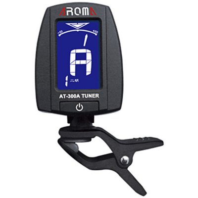 AROMA  AT - 300A Portable Clip-on Electric Tuner Backlit Screen for Chromatic Erhu Lute Zither
