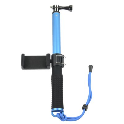 30 - 95cm Selfie Stick Grip Phone Clip for Action Cameras