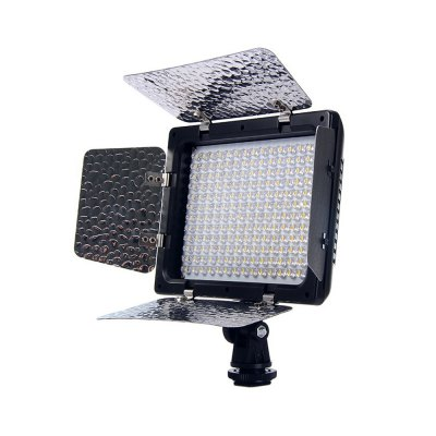 W180 LED Video Lighting LampPhotography Accessories<br>W180 LED Video Lighting Lamp<br><br>Applicable Camera Brand: Universal<br>Power: 11.5W<br>Shell material: Plastic,Metal<br>Product weight: 0.255 kg<br>Package weight: 0.500 kg<br>Product size (L x W x H): 15.50 x 4.00 x 15.50 cm / 6.1 x 1.57 x 6.1 inches<br>Package size (L x W x H): 19.00 x 16.00 x 7.00 cm / 7.48 x 6.3 x 2.76 inches<br>Package Contents: 1 x W180 LED Video Light, 3 x CT Filter, 1 x User Manual (in English and Chinese)