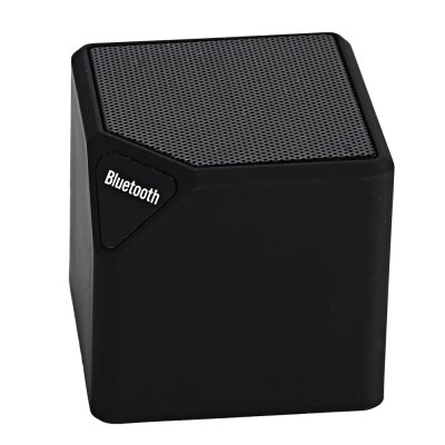 MiniX3 Wireless Bluetooth 4.0 SpeakerSpeakers<br>MiniX3 Wireless Bluetooth 4.0 Speaker<br><br>Model: MiniX3<br>Design: Mini<br>Compatible with: iPhone,iPod,Laptop,Mobile phone,MP3,MP4,MP5,PC,Tablet PC<br>Supports: Bluetooth,TF Card Music Playing,Volume Control<br>Connection: Wireless<br>Interface: 3.5mm Audio,Micro USB,TF Card Slot,USB2.0<br>Audio Source: Bluetooth Enabled Devices<br>Material: ABS,Electronic Components<br>Color: Black,Blue,Green,Red,Yellow<br>Bluetooth Version: V4.0<br>Battery Type: Lithium Battery<br>Battery Current: 300mAh<br>Product weight: 0.153 kg<br>Package weight: 0.182 kg<br>Product size (L x W x H): 5.40 x 5.40 x 5.20 cm / 2.13 x 2.13 x 2.05 inches<br>Package size (L x W x H): 7.00 x 5.50 x 5.50 cm / 2.76 x 2.17 x 2.17 inches<br>Package Contents: 1 x MiniX3 Wireless Bluetooth 4.0 Speaker, 1 x USB Cable, 1 x Audio Cable