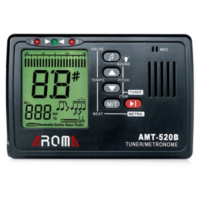 AROMA AMT - 520B 3 in 1 Big Screen Metronome Tuner 30 - 260bpm and Tone Generator Support Chromatic Guitar Ukulele Violin