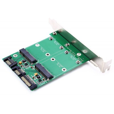 Dual mSATA to SATA Converter with SATA 3.0 Port