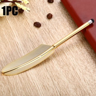 YM07 Plastic Feather Design Phone Screen Stylus Touch Pen