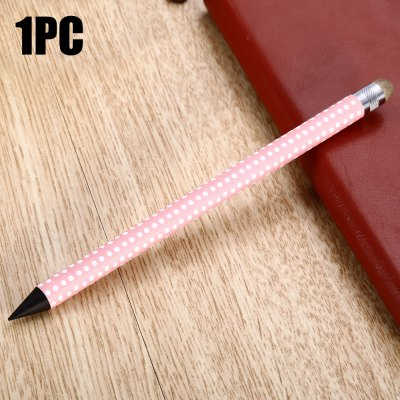BD06 2 in 1 Polka Dot Design Pencil Capacitive Screen Stylus