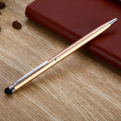 YQ08 2 in 1 Capacitive Pen / Ballpoint Pen for TouchscreenPen &amp; Pencils<br>YQ08 2 in 1 Capacitive Pen / Ballpoint Pen for Touchscreen<br><br>Material: Metal<br>Product weight: 0.008 kg<br>Package weight: 0.030 kg<br>Product size (L x W x H): 13.00 x 0.50 x 0.50 cm / 5.12 x 0.2 x 0.2 inches<br>Package size (L x W x H): 15.00 x 2.00 x 2.00 cm / 5.91 x 0.79 x 0.79 inches<br>Package Contents: 1 x Touch Pen