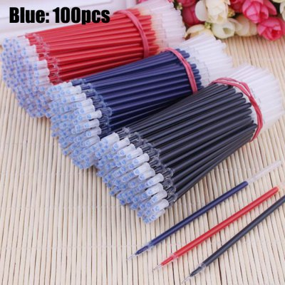 0.5mm Writing Gel Ink Stationery Needle Tube Refill 100PCS