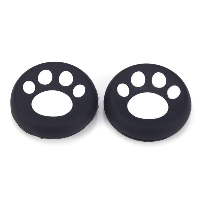 2Pcs Silicone Thumb Grip Cap for PS4 Cat Pawprint