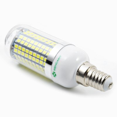 6 x Sencart E14 1500LM 15W 180 SMD2835 LED Corn LightCorn Bulbs<br>6 x Sencart E14 1500LM 15W 180 SMD2835 LED Corn Light<br><br>Available Light Color: Warm White,White<br>Brand: Sencart<br>CCT/Wavelength: 3000-3500K,6000-6500K<br>Emitter Types: SMD 2835<br>Features: Long Life Expectancy, Energy Saving<br>Function: Studio and Exhibition Lighting, Commercial Lighting, Outdoor Lighting<br>Holder: E14<br>Luminous Flux: 1500Lm<br>Output Power: 15W<br>Package Contents: 6 x Sencart LED Corn Light<br>Package size (L x W x H): 10.00 x 7.00 x 11.00 cm / 3.94 x 2.76 x 4.33 inches<br>Package weight: 0.218 kg<br>Product size (L x W x H): 3.00 x 3.00 x 10.00 cm / 1.18 x 1.18 x 3.94 inches<br>Product weight: 0.033 kg<br>Sheathing Material: ABS<br>Total Emitters: 180<br>Type: Corn Bulbs<br>Voltage (V): AC 110-120,AC 220-240