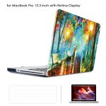 Oil Painting Style Protective Hard Case for MacBook Pro 13.3 inch with Retina Display Frosted Matte Shell with Keyboard Film Screen Protector