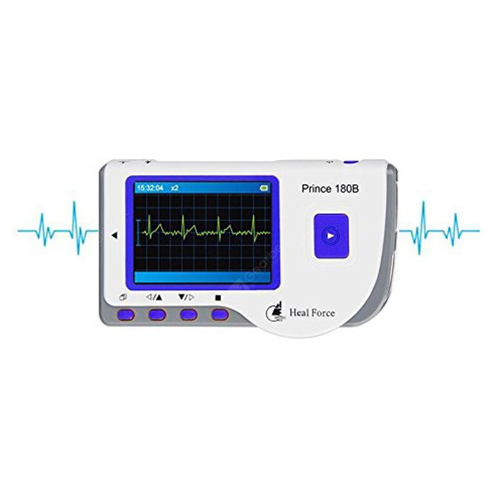 Special price for Heal Force Portable Prince 180-B Handheld ECG Monitor  - BLUE