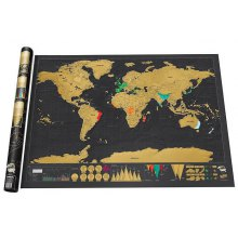 Large Size Personalized Scratch-off World Map Poster Travel Toy - 32.4 x 23 inch