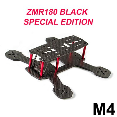 FPVMODEL ZMR180 M4 4mm Carbon Fiber Frame Kit Quadcopter Fittings with PCB Board