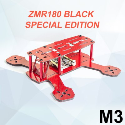 FPVMODEL ZMR180 M3 3mm Carbon Fiber Frame Kit Quadcopter Fittings with PCB Board
