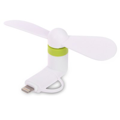 Portable 2 in 1 8 Pin Micro USB Mini Fan for Smartphones