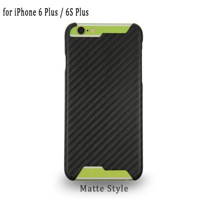 Grid Pattern Carbon Phone Back Case Protector for iPhone 6 Plus / 6S Plus