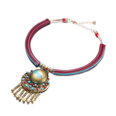 Female Necklace with Alloy Pendant