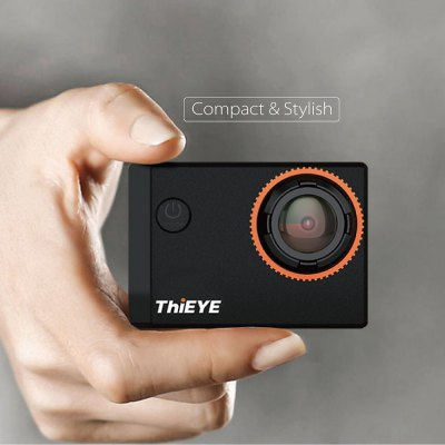 ThiEYE i60 4K WiFi 4MP 152 Degree Wide Angle Action CameraAction Cameras<br>ThiEYE i60 4K WiFi 4MP 152 Degree Wide Angle Action Camera<br><br>Brand Name: ThiEYE<br>Model: i60<br>Type: Sports Camera<br>Chipset Name: Sunplus<br>Chipset: Sunplus SPCA6350M<br>Max External Card Supported: TF 32G (not included)<br>Class Rating Requirements: Class 10 or Above<br>Screen size: 1.5inch<br>Screen type: TFT<br>Battery Type: Removable<br>Capacity: 1050mAh<br>Power Supply: 5V 1A<br>Charge way: USB charge by PC<br>Working Time: About 90min at 1080P 30fps<br>Wide Angle: 152 degree wide angle lens<br>Camera Pixel : 4MP<br>ISO: 50,Auto,ISO100,ISO1600,ISO200,ISO400,ISO800<br>Decode Format: H.264<br>Video format: MOV<br>Video Resolution: 1080P (1920 x 1080),1920 x 1440,2.7K (3264 x 2448),4K (4096 x 2160),720P (1280 x 720)<br>Video Output : HDMI<br>Image Format : JPG<br>Audio System: Built-in microphone/speacker (AAC)<br>Exposure Compensation: +0.3,+0.7,+1,+1.3,+1.7,+2,-0.3,-0.7,-1,-1.3,-1.7,-2,0<br>White Balance Mode: Auto,Cloudy,Daylight,Fluorescent,Tungsten<br>WIFI: Yes<br>WiFi Function: Remote Control,Sync and Sharing Albums<br>WiFi Distance : 15m<br>Waterproof: Yes<br>Waterproof Rating : IP68<br>Water Resistant: 40m<br>Loop-cycle Recording : Yes<br>Loop-cycle Recording Time: 1min,3min,5min,OFF<br>HDMI Output: Yes<br>HDR: Yes<br>Time Stamp: Yes<br>Interface Type: Micro HDMI,Micro USB,TF Card Slot<br>Language: Deutsch,English,French,Italian,Japanese,Russian,Simplified Chinese,Spanish,Traditional Chinese<br>Frequency: 50Hz,60Hz<br>Product weight: 0.044 kg<br>Package weight: 0.562 kg<br>Product size (L x W x H): 5.90 x 4.10 x 2.50 cm / 2.32 x 1.61 x 0.98 inches<br>Package size (L x W x H): 26.80 x 13.20 x 10.60 cm / 10.55 x 5.2 x 4.17 inches<br>Package Contents: 1 x 4K Action Camera (No Battery Inside) + Waterproof Hosing + Base + Long Screw, 1 x Battery, 1 x USB Cable (50cm Approx.), 1 x J-Shaped Quick Release Buckle, 1 x Long Connector+ Short Screw, 1 x Sho