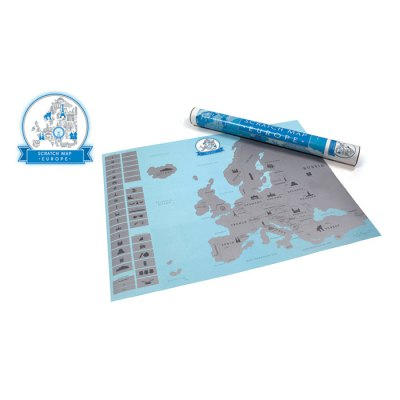 Large Size Personalized Scratch-off Europe Map Poster Travel Toy - 21.6 x 17 inch