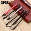 3PCS TH04 Long Coil Spring Resistive Stylus Aluminum Alloy