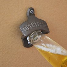 Cast Iron Wall Mounted Bottle Opener