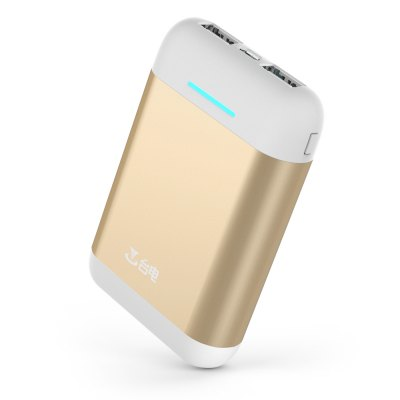 Teclast T100CA 10000mAh Mobile Power Bank 2 USB OutputPower Banks<br>Teclast T100CA 10000mAh Mobile Power Bank 2 USB Output<br><br>Battery Type: Li-ion Battery<br>Brand: Teclast<br>Capacity (mAh): 10000mAh<br>Capacity Range: 7500-10000mAh<br>Color: Gold,Pink,Rose Gold<br>Connection Type: Micro USB, Two USB Output Interface<br>Input: 5V / 2A<br>Mainly Compatible with: Universal<br>Material: Aluminium Alloy<br>Model: T100CA<br>Output: 5V / 2.1A<br>Package Contents: 1 x Power Bank, 1 x USB Cable<br>Package size (L x W x H): 12.00 x 12.00 x 2.60 cm / 4.72 x 4.72 x 1.02 inches<br>Package weight: 0.3170 kg<br>Product size (L x W x H): 10.10 x 6.10 x 2.15 cm / 3.98 x 2.4 x 0.85 inches<br>Product weight: 0.2000 kg<br>Type: Portable Mobile Powers