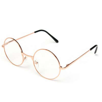 Retro Round Presbyopic Reading Glasses with Metal Frame