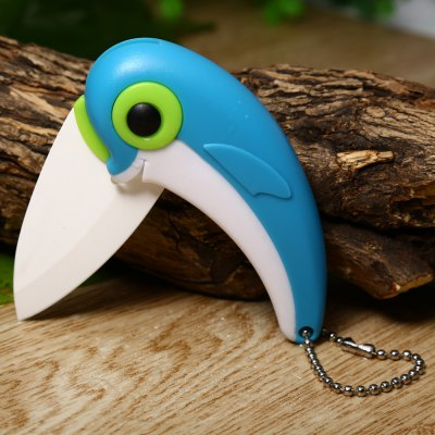Dolphin Style Ceramic Folding Knife with Portable Chain