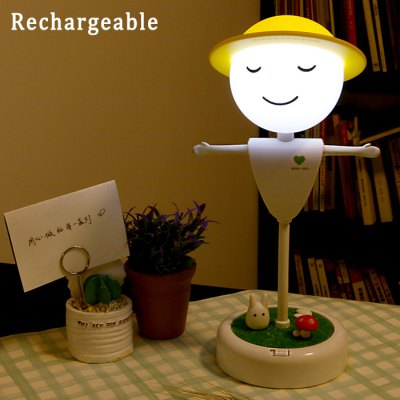 Team Work Rechargeable Scarecrow LED Night Light with Totoro Microlandschaft