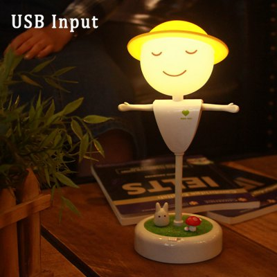 Team Work Scarecrow LED Night Light with Totoro Microlandschaft